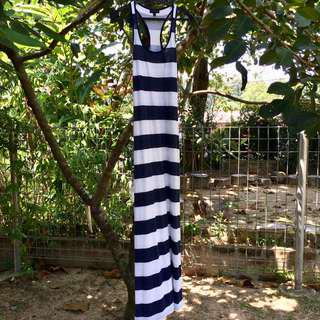Topshop blue and white stripes dress