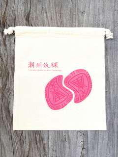 🚚 Uniquely Singapore : Handmade Peng Kueh Canvas Drawstring Pouch