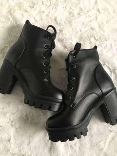 Chucky Heel Ankle Boots