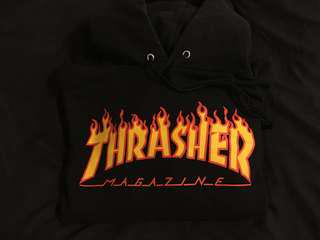 Thrasher Flame Font Sweater