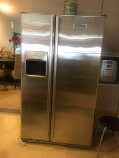 Electrolux 2 door fridge with water dispenser