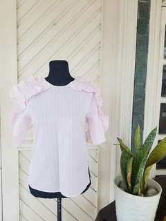 NEW | 60% OFF | H&M Pink Ruffled Top
