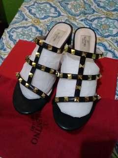 Valentino Rockstud block heel