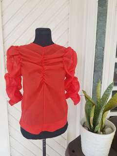 NEW | 50% OFF | H&M Red Ruffled Top