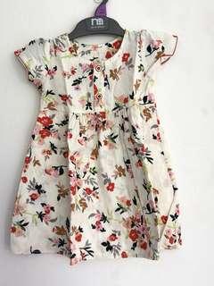 Milky Flower Baby Dress