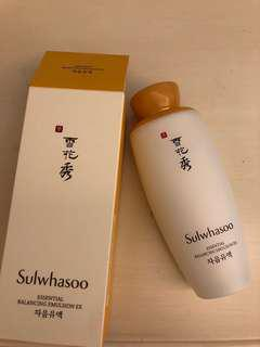 New sulwhasoo essential balancing emulsion ex