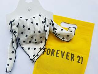 NEW | 50% OFF | F21 Black & White Polka Dots Scarf