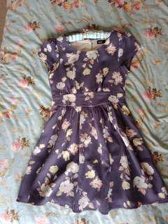 Dotti dress - Blue Floral