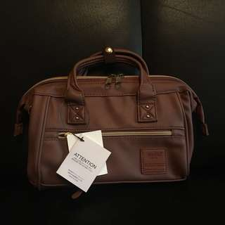 Anello mini boston 2 way bag (dark brown)