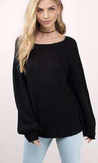 Black Knitted Oversized Jumper (M-L)