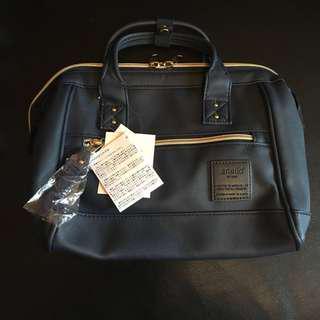 Anello mini boston 2 way bag (navy blue)