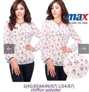 Chiffon blouse flowery size M