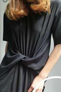 korean brand slimming black dress