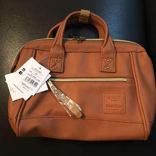 Anello mini boston 2 way bag (Camel)