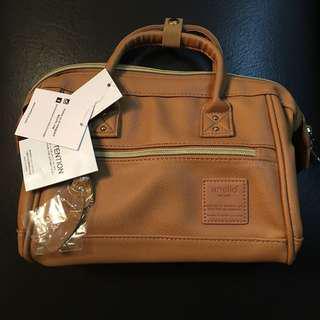 Anello mini boston 2 way bag (tan)