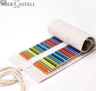 Faber Castell 60 Coloured Pencils w Canvas Roll