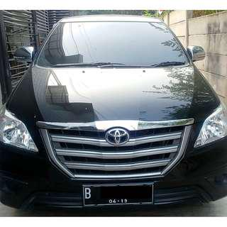 Toyota Innova E 2.5 (Bukan G) 2014 Diesel MT Manual 2014 Hitam KM 30Rb