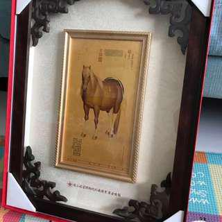 Rare 99.9 Gold Foil Painting - Prized Steed