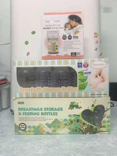 New -Breastmilk storage bottle & bag