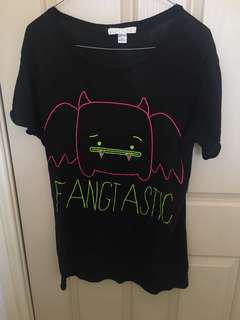 Forever 21 animated T shirt fangtastic