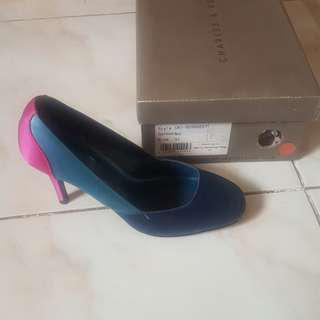 *Repriced* Charles and Keith Block Colour Heels
