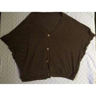 Dark brown Knit Poncho
