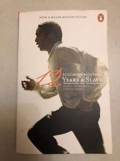 書 book noval Solomon northup twelve years a salve