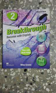 🚚 Breakthrough 2 success with English Macmillan育英醫專英文課本#換你當學霸