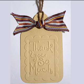 Free NM: Handmade Embossed Thank You Tag 03  ( Teacher's Day Farewell )