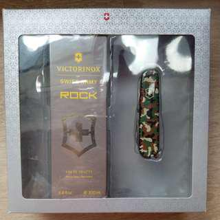 VICTORINOX SWISS ARMY ROCK EDT 100ml + pocket multi purpose knives 瑞士萬用刀