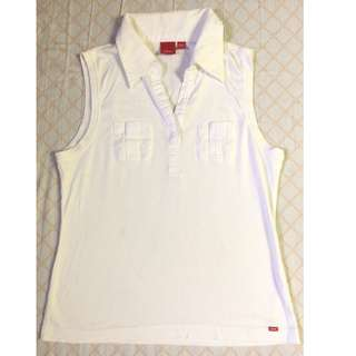 ESPRIT stretchable collared sleeveless