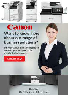 Canon multifunctional copiers system