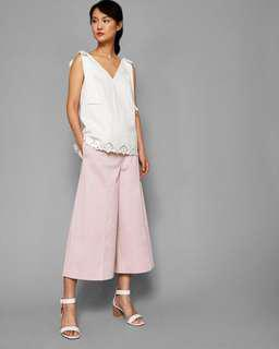 Ted Baker greyish pink culottes trousers 灰粉色七分闊腳褲