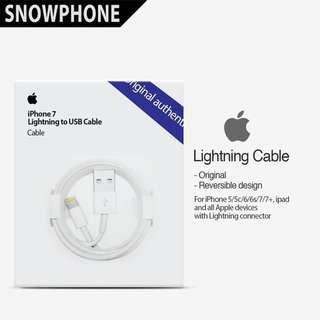 Jual Kabel Iphone 5 6 7 8 + plus ipad ipod ORIGINAL 100%