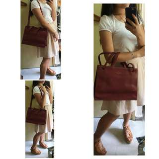 Thevan Premium Paris Burgundy Handbag/ Shoulder Bag/ Crossbody bag