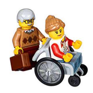 LEGO wheelchair and minifig