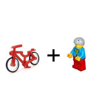 LEGO bicycle and minifig