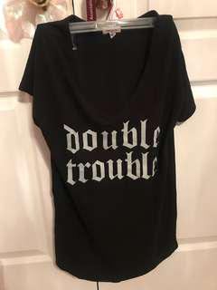 double trouble vneck top