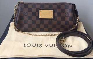 Louis vuitton eva clutch damier ebene