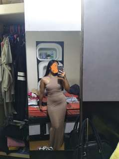 Nude Long Dress Bodyfit