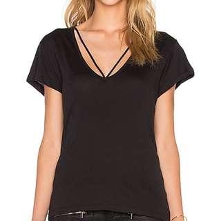 Black Bardot tshirt with straps