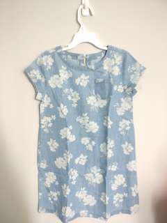 Soft Blue Jeans Dress