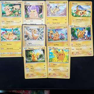 Pokemon cards pikachu collection