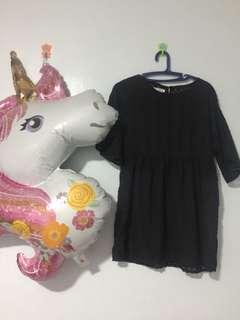 Sheer Black Short Dress