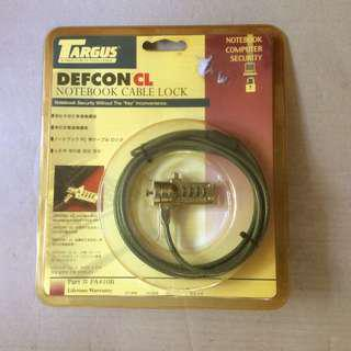 Targus Defcon CL notebook cable lock in sealed package