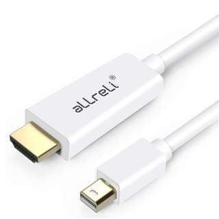 (BN) aLLreLi Gold Plated Mini DisplayPort Thunderbolt Male To HDMI Male Cable - 1.8m (Brand New)