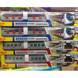 清貨特價現貨最新TAKARA TOMY 2018 年限量版 PLARAIL 中環港島線  地鐵 港鐵載客列車『1998-現在』單裝玩具 火車 Tomica - Plarail MTR Passenger Train Tsuen Wan (1998-Present)(不是lego,Bandai ,disney,tomaic, sanrio,麵包超人)