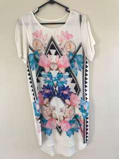 Print Dress size 8