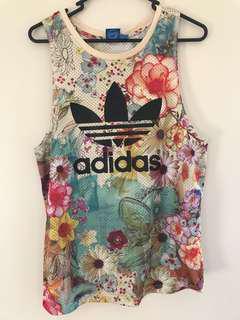 Adidas print singlet size 8