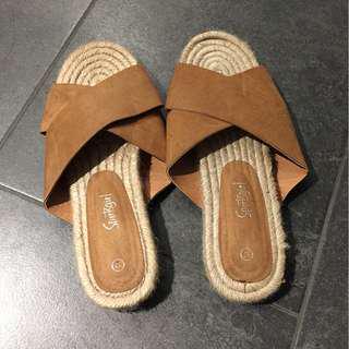 Sportsgirl Brown Sandals